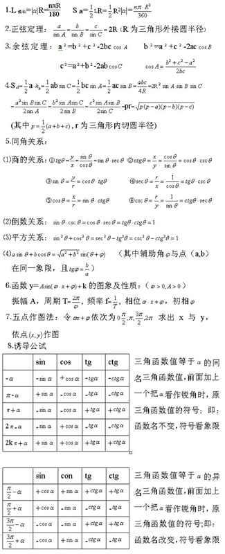 2020年江苏成人高考高起点理科《数学》复习重点:正弦定理和余弦定理