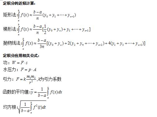 2020年江苏成人高考专升本高等数学(二)定积分考点